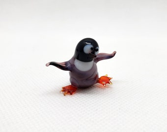 FREE Shipping to the lower 48 on orders over $35! Handmade Glass Mini Penguin 3.5 Tall