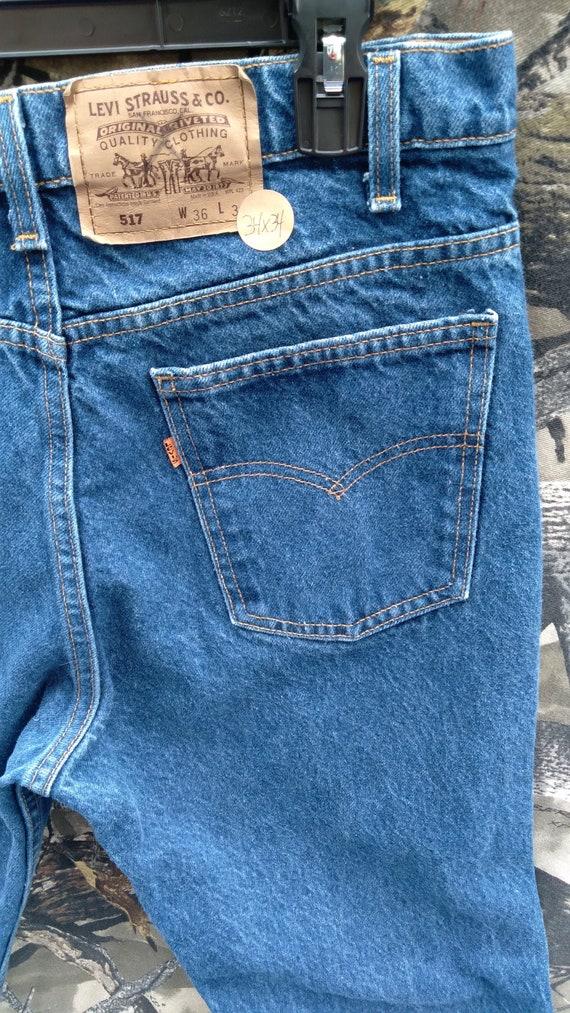 Levi's 517 34x34 Orange Tab Vintage Bootcut Jeans