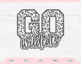 Go Wildcats Leopard SVG,Dxf,Jpg,Png, Eps, Wildcats Mascot Svg, Wildcats Cut File, Wildcats Shirt Svg, Wildcats Team Svg, Football Svg Cricut