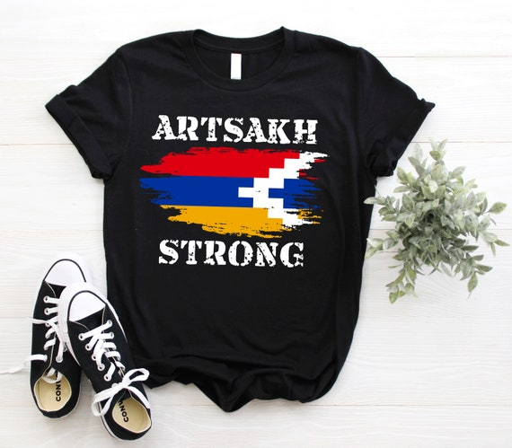 Artsakh Strong Shirt, Artsakh is Armenia Shirt, Armenian Flag Gift T-Shirt