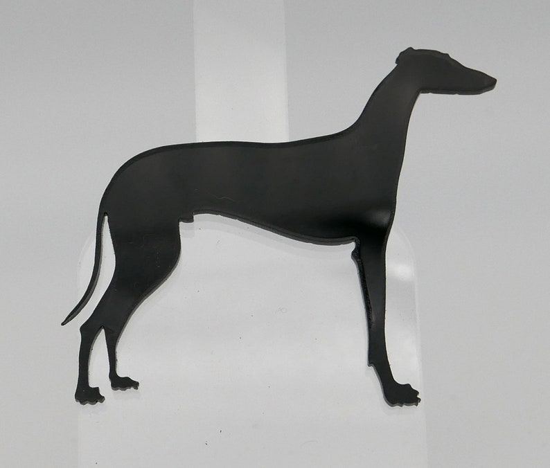 Male GalgoGreyhound Side View Acrylic Pin