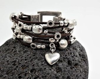 Earrings Designer Jewelry Set with Positive Energy by Sandrine Kespi Pendant and 3 Sizes Adjustable Cuff Bracelets Stylish gift