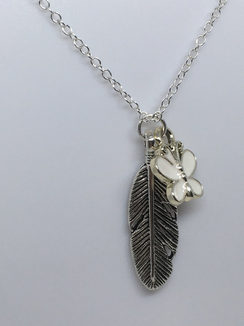 The last of us 2 Butterfly and Fern Pendant Necklace   Ellie Dina Inspired  You Cant Stop This  Devil Eye  Unisex  Necklace Gift