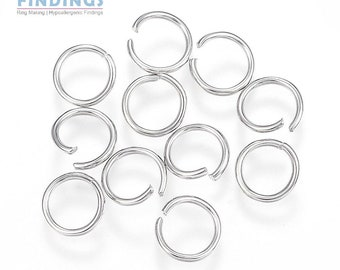 Open rings 5X1mm Inoxidable Steel X50