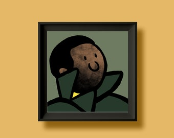 Marvin Gaye - What's Going On - Album Artwork Print – Music Poster- Illustrated Wall Art - Home Decor- A4,12 Inch, 7 Inch. Pango Tango