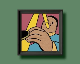 John Coltrane - Giant Steps - Album Artwork Print – Music Poster- Illustrated Wall Art - Home Decor - A4,12 Inch, 7 Inch. Pango Tango