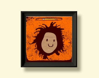 Lauryn Hill- The Miseducation of - Album Artwork Print – Music Poster- Illustrated Wall Art - Home Decor- A4,12 Inch, 7 Inch. Pango Tango