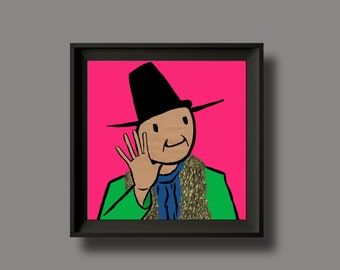 Captain Beefheart - Trout Mask Replica - Album Artwork Print – Music Poster- Illustrated Wall Art - Home Decor- A4,12 Inch, 7 Inch