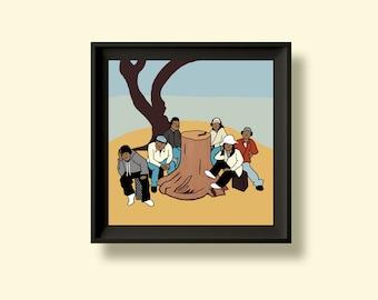 Jurassic 5 - Quality Control - Album Artwork Print – Music Poster- Illustrated Wall Art - Home Decor- A4,12 Inch, 7 Inch. Pango Tango