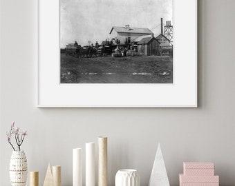 Eli Whitney Cotton Gin Poster Print History Teacher Farmer Gift Farmhouse Decor
