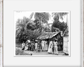 Photo: Puerto Rican Natives   1903   Puerto Rio   San Juan   Historic Photo Reproduction