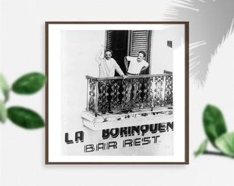 Photo   Pedro Albizu Campos, 1891-1965, on balcony with bodyguard (Size: 9x10)