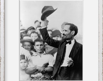 Photo: Pedro Albizu Campos   Siezed by Puerto Rican Police   1950   Historic Photo Reproduction