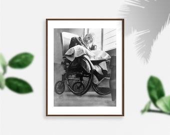 Photo   Pedro Albizu Campos, 1891-1965, in wheelchair at hospital (Size: 8x10)