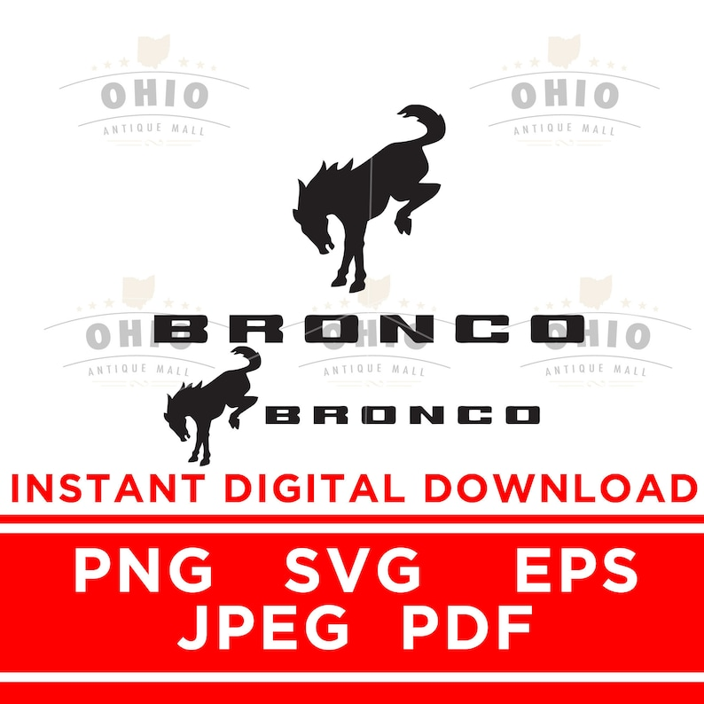 New Ford Bronco 2020 2021 2 versions Brand Logo PNG SVG ...