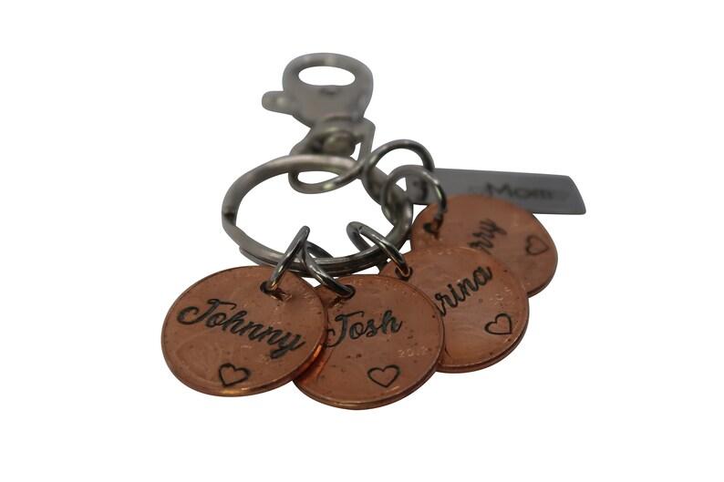 Valentine/'s Day Engraved Penny Keychain Gift for Him Custom Penny Keychain Penny Name Keychain Valentine/'s Day Gift Penny Keychain