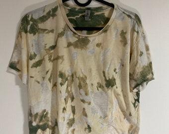 Sample Sale Warehouse experiment acid wash reverse tie dye non standard green color Acid Crop