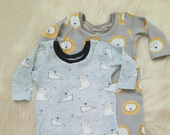 Infant Baby Kids Cartoon Animal Long Sleeve Romper Jumpsuit Outfits Playsuit