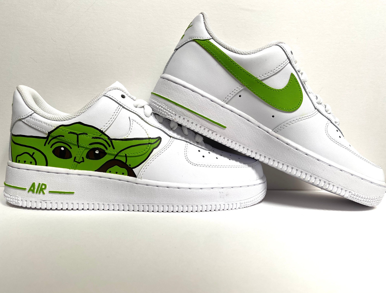 "Baby Yoda ""Grogu"" Custom Nike Air Force One Shoes/Star Wars Disney Mandalorian"