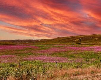 Sunset in the Sandhills of Nebraska