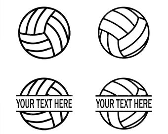 Volleyball SVG, PNG, PDF, Cricut, Silhouette, Cricut svg, Silhouette svg, Volleyball Split Frame svg, Volleyball Split png, Sports svg