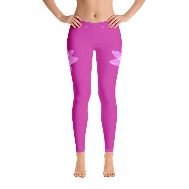 Awesome! Pink Lotus Leggings