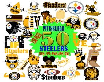 Pittsburgh Steelers SVG, Pittsburgh Steelers SVG Bundle, Nfl Team Logo svg file cricut, Cut file, Vector File, Printable file, Cricut file