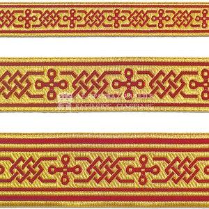 Vestment border trim 4 cm 2,36 Metallic gallon Church galoon 2.5cm 6 cm Jasquard gallon trim Greek gallon 1,57 1 ribbon