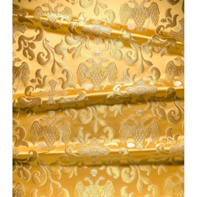 Metallic Greek brocade 145 cm width