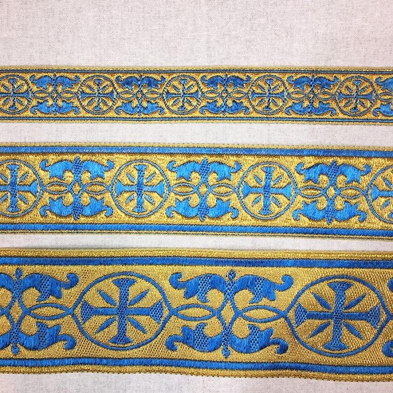 1 ribbon for vestments Jacquard metallic gallon 1,57 2,36 4 cm Vestments border trim 6 cm Church galoon 2.5cm Greek gallon