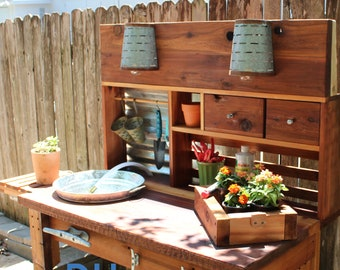Lakewood 3 Person Swing, Potting Bench Sink Etsy
