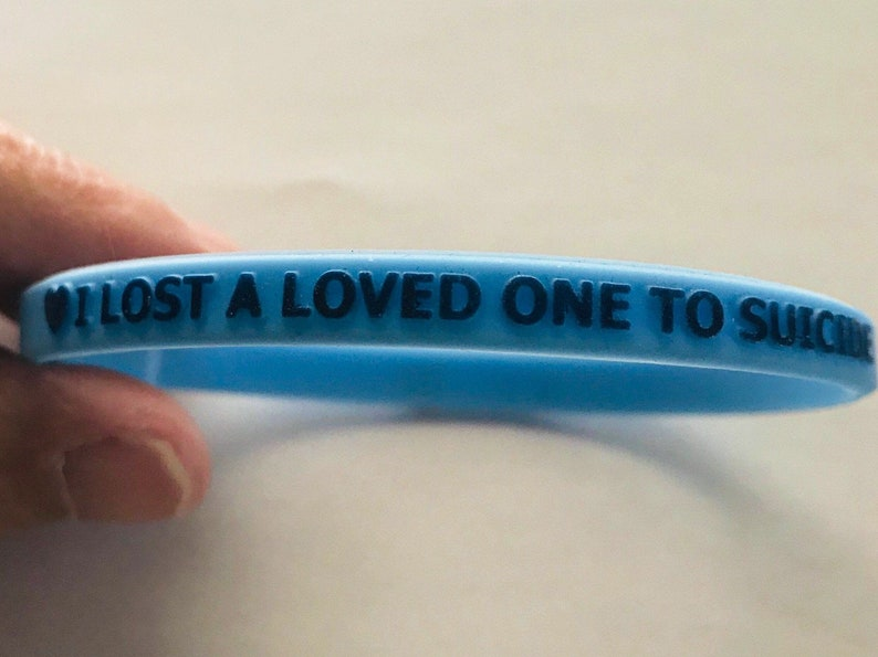 Suicide Memorial WristBand made of durable silicone rubber image 1