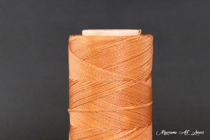 Leather cord Jewelry Cord Macrame Cord 0,5 mm Waxed Linhasita Cord Colour #388