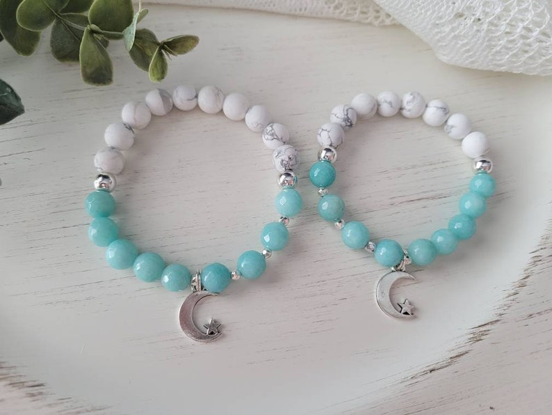 bracelet set beaded bracelet mother daughter jewelry matching jewelry To the Moon /& Back Bracelet mother daughter bracelet