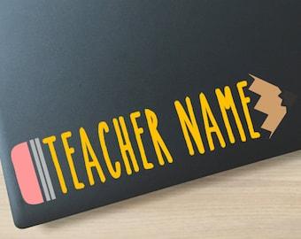 Pencil Decal Vinyl Decal Teacher Decal Pencil Vinyl Decal Teacher Gift Teacher Teacher Appreciation New Teacher Preschool Teacher School