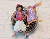 Aladdin badge reel, Disney-inspired badge reel, Aladdin and carpet, nurse badge reel, crystal bling badge reel, teacher badge reel