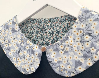 Detachable collars: reversible Liberty print collars