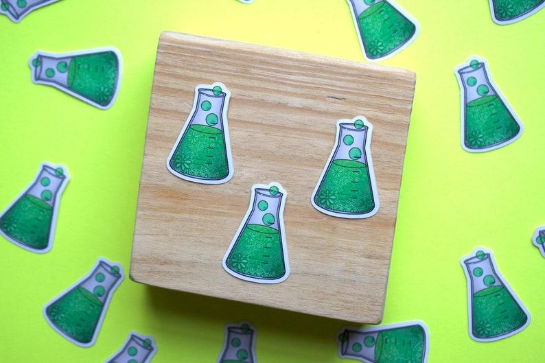 Science Planner Accessories Scientist Chemistry Teacher MINI Erlenmeyer Flask WATERPROOF Science Sticker Chemist Decals 1 Dollar Items