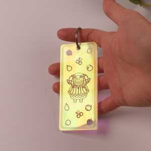 Animal Crossing Blather Keychain Laser cut on Iridescent acrylic