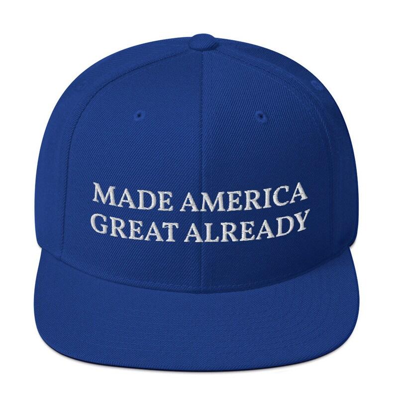 Made America Grate Already,Biden Maga Snapback Hat Blue Maga