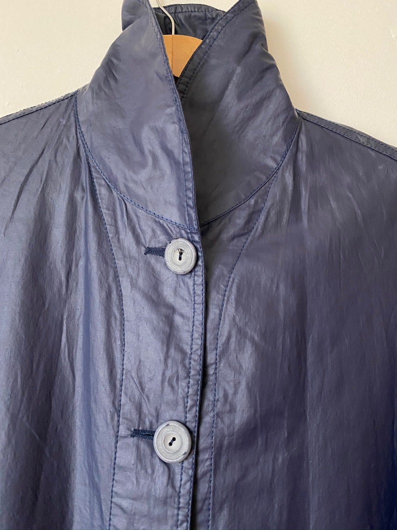neck GP Vintage 90s. Blue sucker with buttons long sleeve M