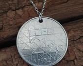 1982 Netherlands 2 1 2 Gulden Vintage Coin Necklace Pendant Handmade Jewellery World Charm Unusual Birthday Gift Unique Travel
