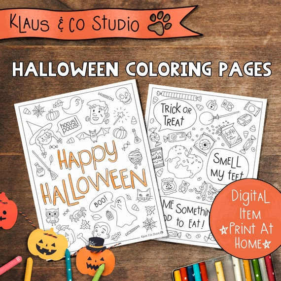 Halloween Coloring Pages / Happy Halloween / Trick or Treat