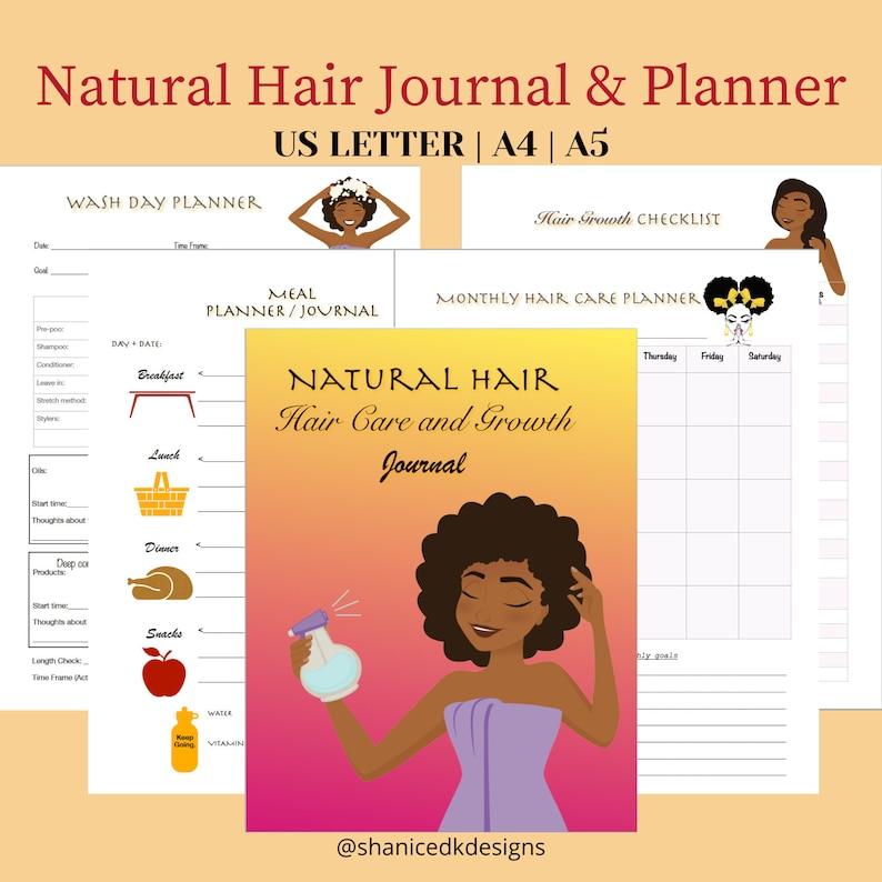 Natural Hair Journal & Planner  Hair Growth Journal  Hair image 1