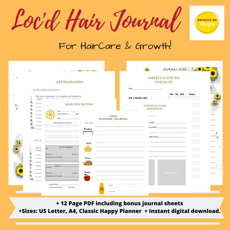Loc'd Natural Hair Journal  HairCare and Growth Journal image 0