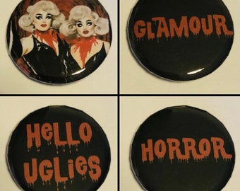 Dragula pin badges - Boulet Brothers - Filth Horror Glamour
