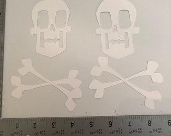 Sugar Skull And Cross Bones Original Tattoo Art Etsy