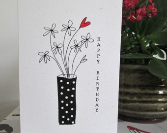 Birthday card with flowers UK