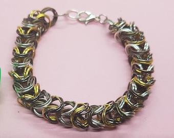 Four-Metal Box-Chain Bracelet