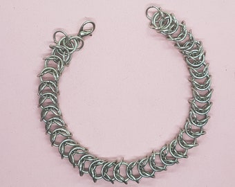 Flat Boxmail Steel Bracelet